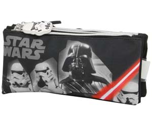 Estuche triple negro-gris Star Wars
