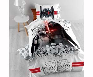 Funda nórdica + Funda de almohada color blanco Star Wars