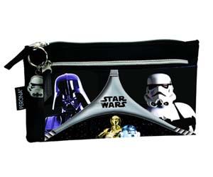 Estuche doble negro-gris Star Wars