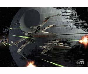 Poster Estrella de la Muerte y Caza Estelar Star Wars