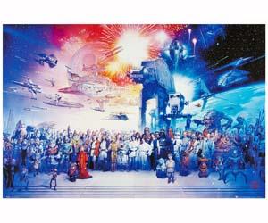 Poster reparto completo Star Wars